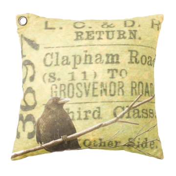 #Kudde Blackbird #cushion #oddbirds