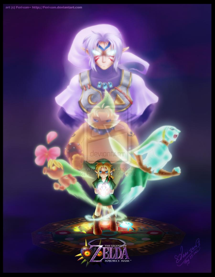 The Legend of Zelda: Majora's Mask | Young Link, Deku Link, Goron Link, Zora Link, and Fierce Deity Link / Dawn of the Final Day by Ferisae