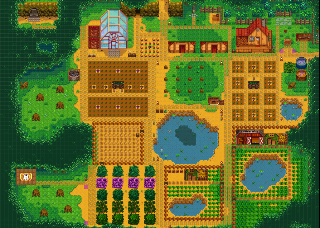 Show Me You Forest Farm Map Layouts Stardewvalley Stardew Valley Farms Stardew Valley Stardew Valley Layout