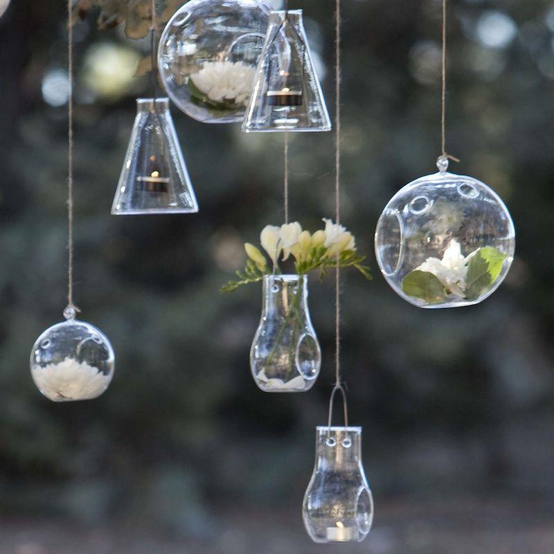 Portavelas de cristal colgante portavelas de vidrio - Portavelas cristal ...