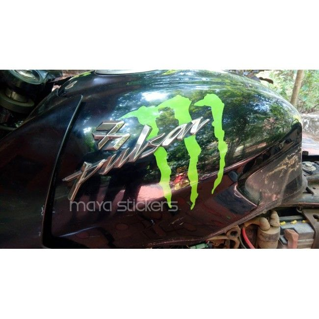 Bajaj Pulsar Monster Stickering Alteration Car And Bike Stickers - Custom vinyl decals india