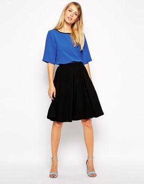 beautiful and charming 100% satisfaction modern style ASOS Midi Skater Skirt | Threads | Midi skater skirt, Skirt ...