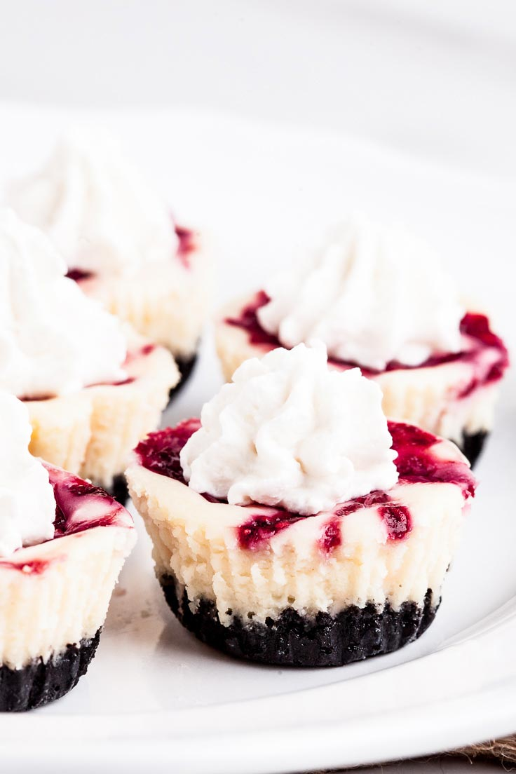 White Chocolate Raspberry Cheesecake Bites - Chew Out Loud
