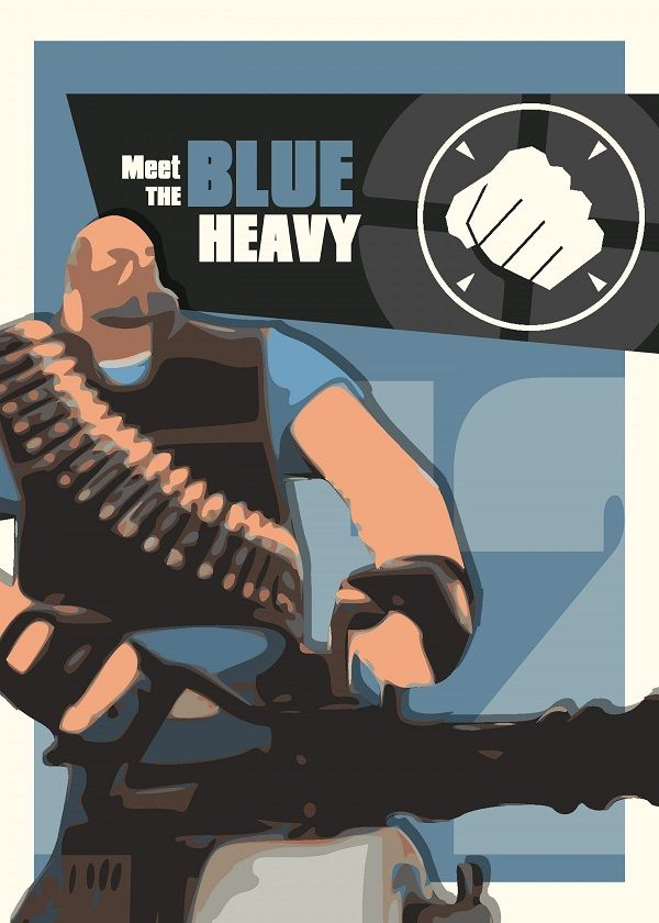 "Team Fortress 2 Characters Meet The Blue Heavy #Displate explore Pinterest""> #Displate artwork by… 