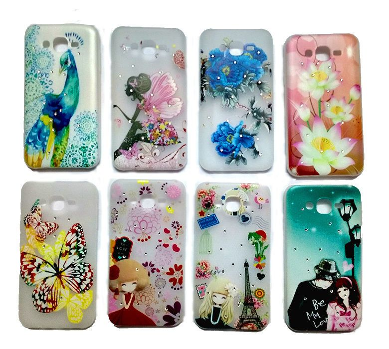 super popular 22feb 67417 Fancy Stone Studded Soft Back Cover Case For Samsung Galaxy J7 (J 7 ...