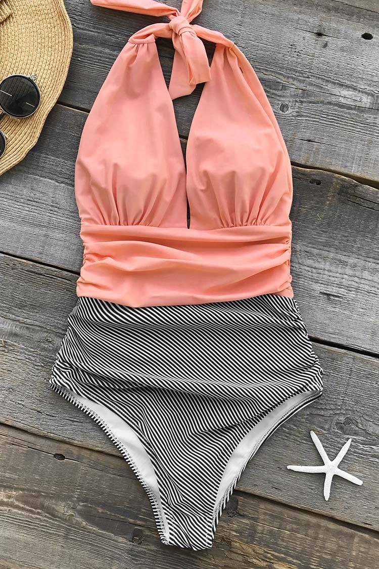 ef8fb62c28a Cupshe Keeping You Accompained Stripe One-piece Swimsuit   Swim ...