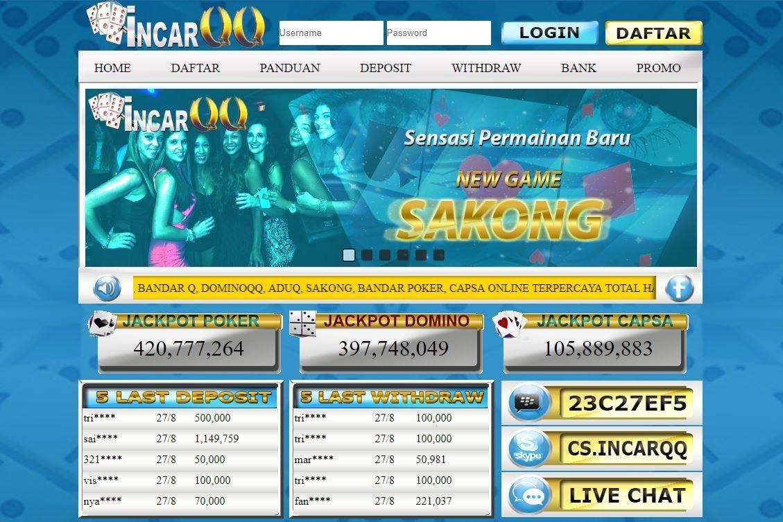 Incarqq.Net Agen Poker, Bandar Q, Dominoqq, Aduq, Sakong, Bandar Poker, Capsa Online Terpercaya