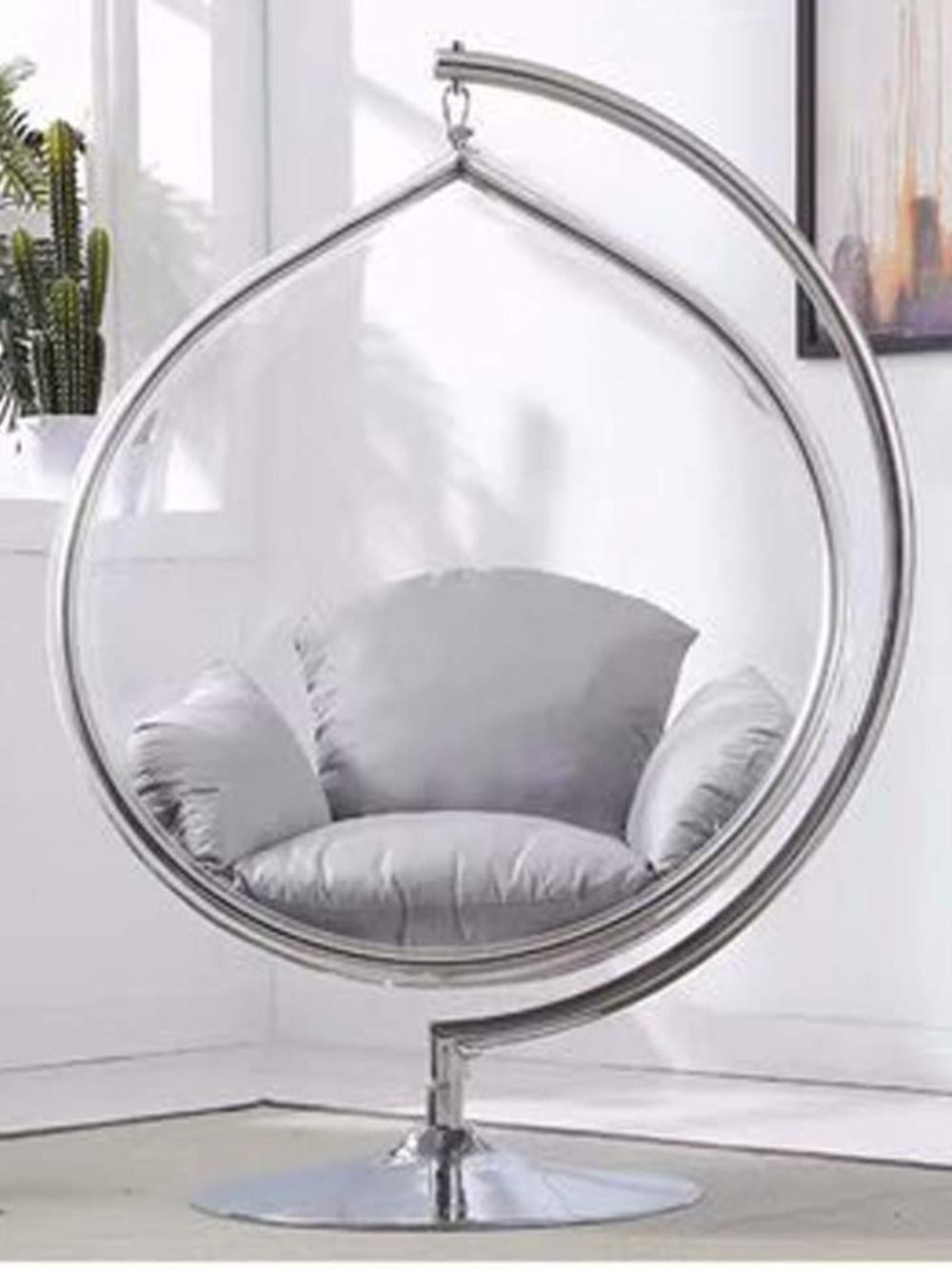 Acrylic Bubble Hanging Chair For Modern Decor In 2020 Hanging Chair Chair Modern Decor