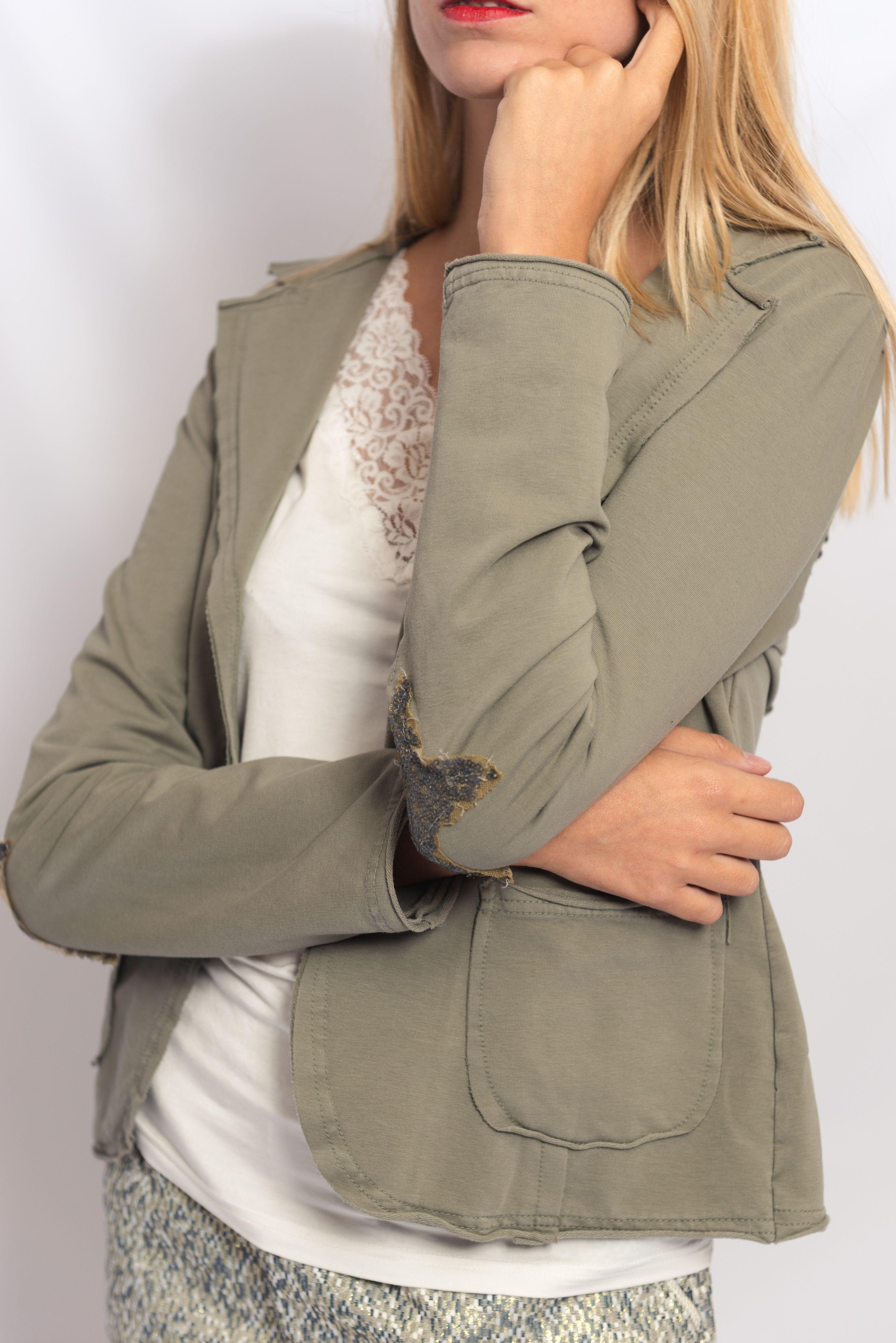 Veste en coton kaki femme