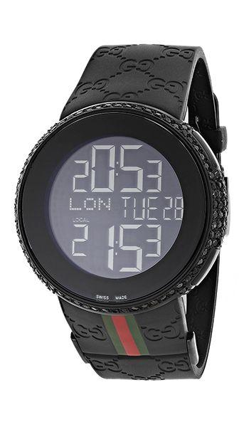 692d3807015 Genuine Mens Gucci Watch with Black Diamonds 6ct