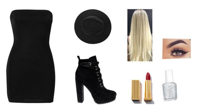 """""""Sin título #8629"""" by cristinam26 ❤ liked on Polyvore featuring Boohoo, Daya and Essie"""