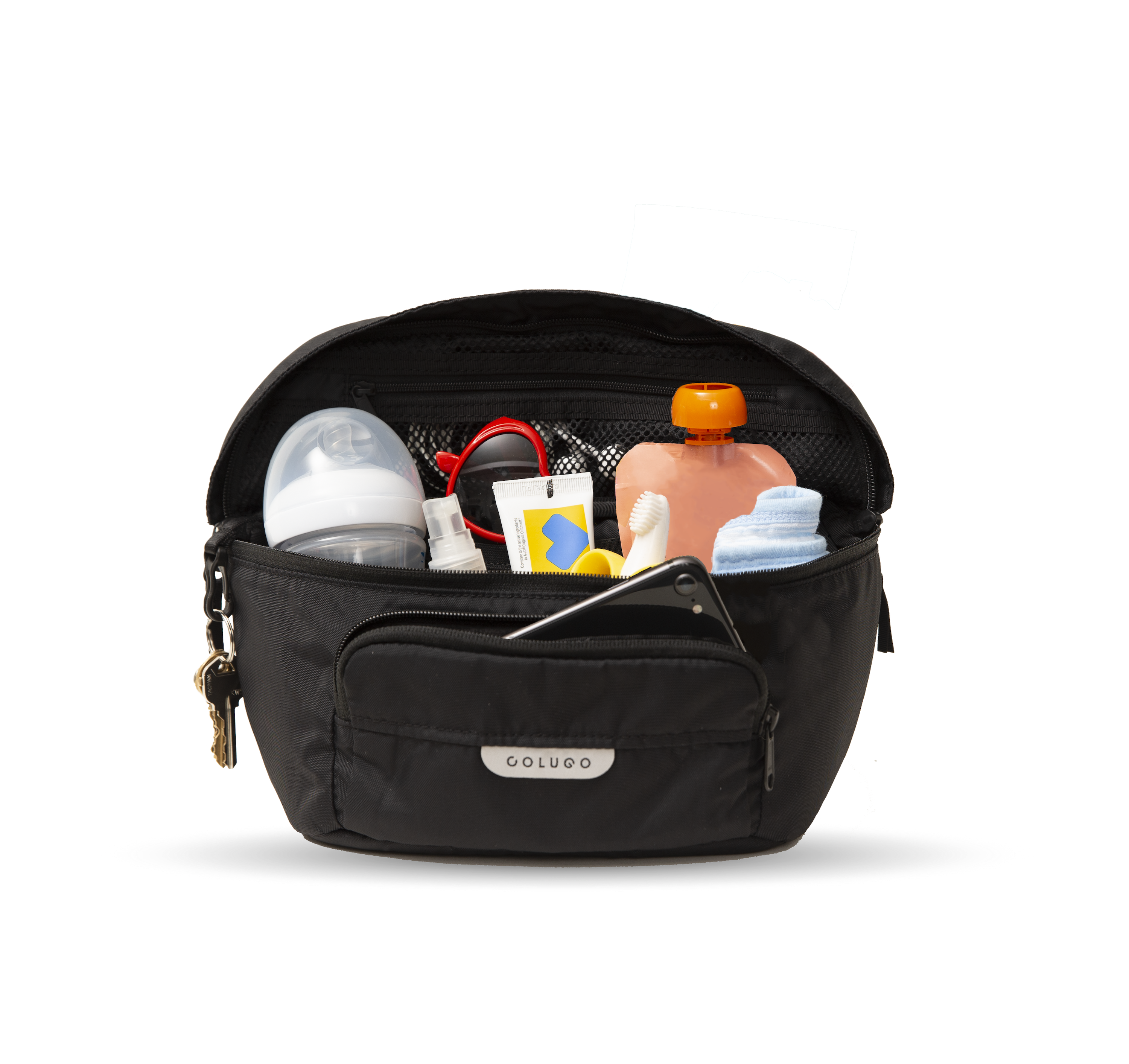 The On the Go Organizer Black Diaper backpack