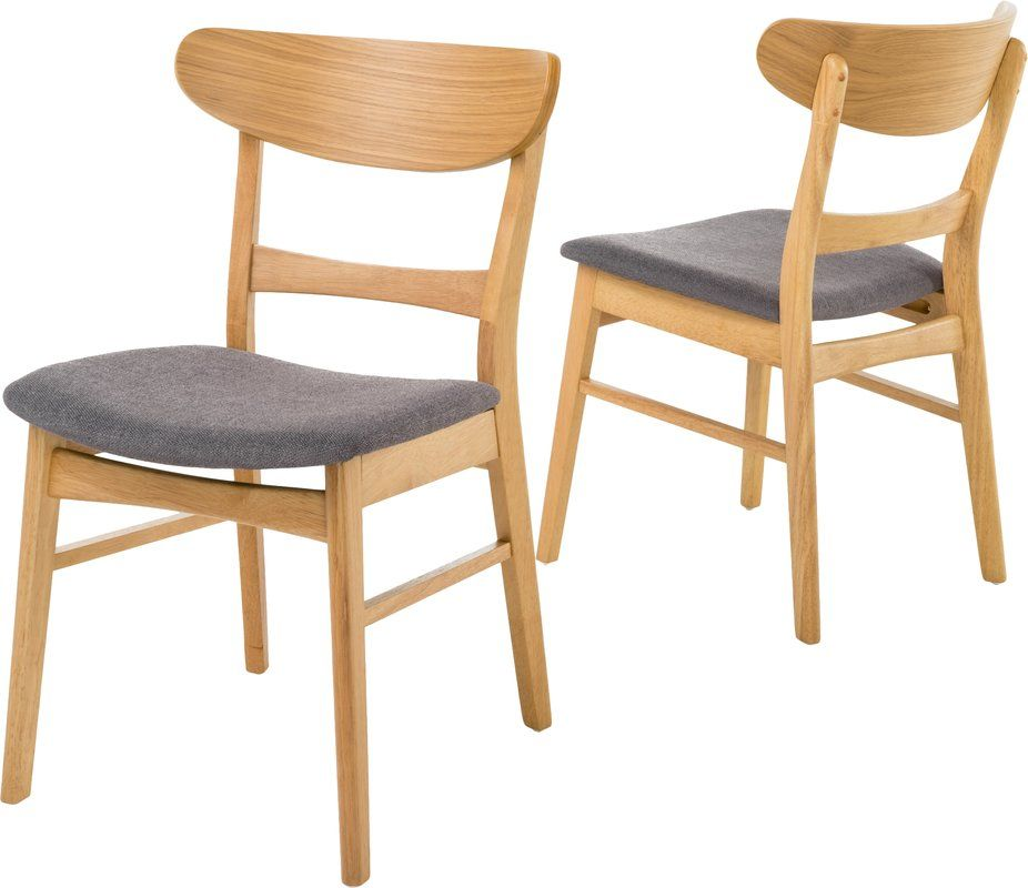 Barroso Solid Wood Dining Chair Reviews Allmodern Dining Chairs Solid Wood Dining Chairs Dining Chair Upholstery