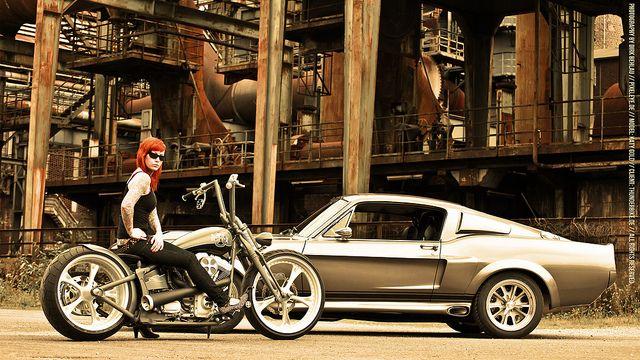 "Thunderbike 27"" iMac Widescreen Wallpaper // Mustang Elenaor 2550x1440 by Pixeleye Interactive // Dirk Behlau, via Flickr"