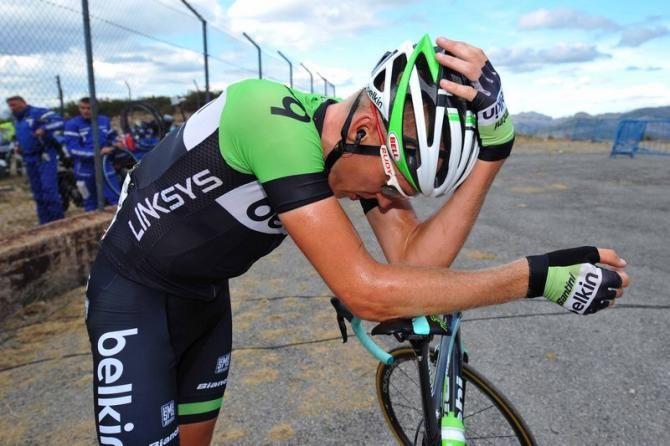 Vuelta a España 2014 - Stage 14: Santander - La Camperona. Valle de Sábero 200.8km - Robert Gesink (Belkin) feels the pain