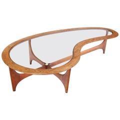 Superbe Danish Mid Century Modern Biomorphic Coffee Table