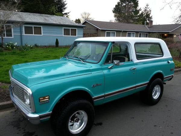 Almost There Medium Green 1972 Chevrolet Blazer Chevrolet