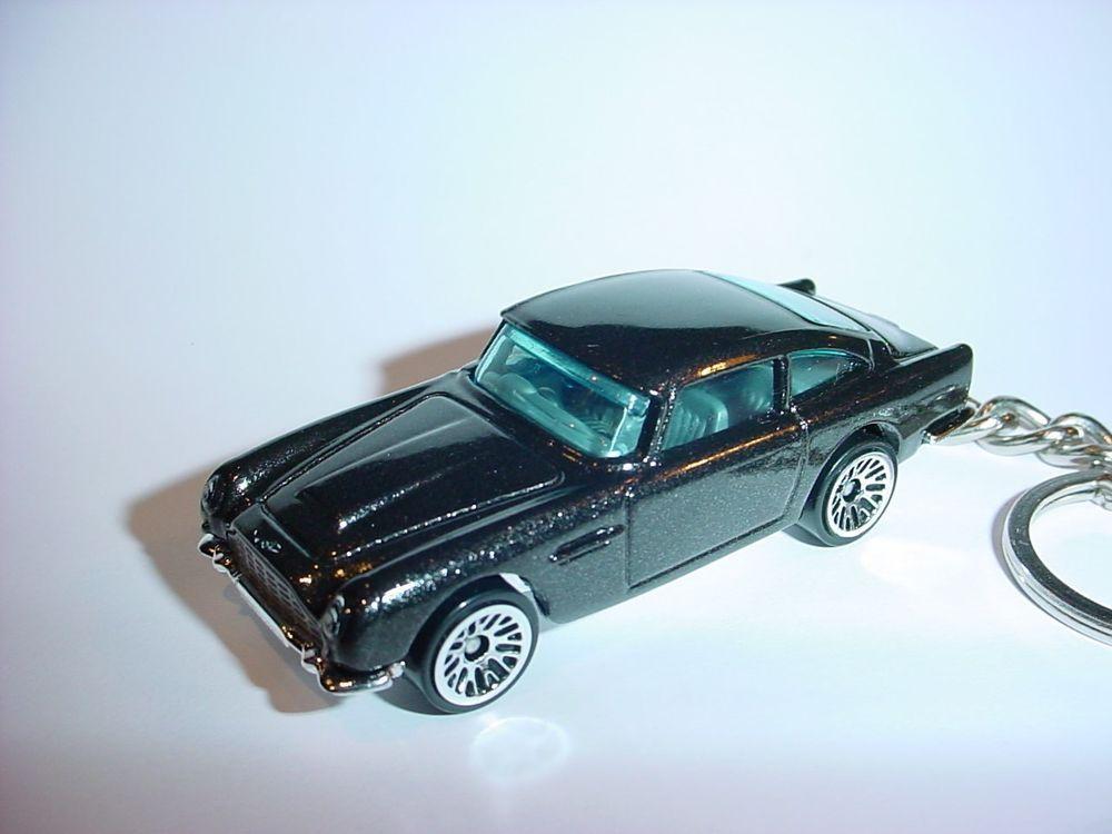 New 3d 1963 Aston Martin Db5 Custom Keychain Keyring Charcoal Finish