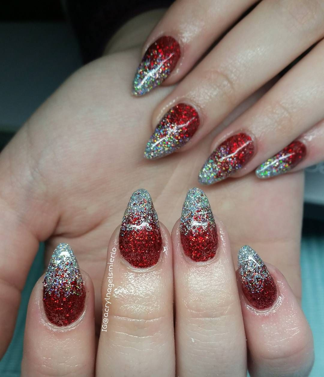 christmas#nailgasm#nails#acrylic#misteromilano#top