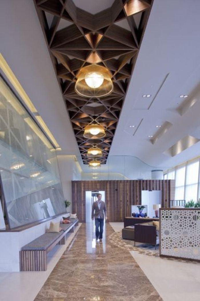 Vous cherchez des id es pour comment faire un faux plafond - Faux plafond suspendu lumineux ...