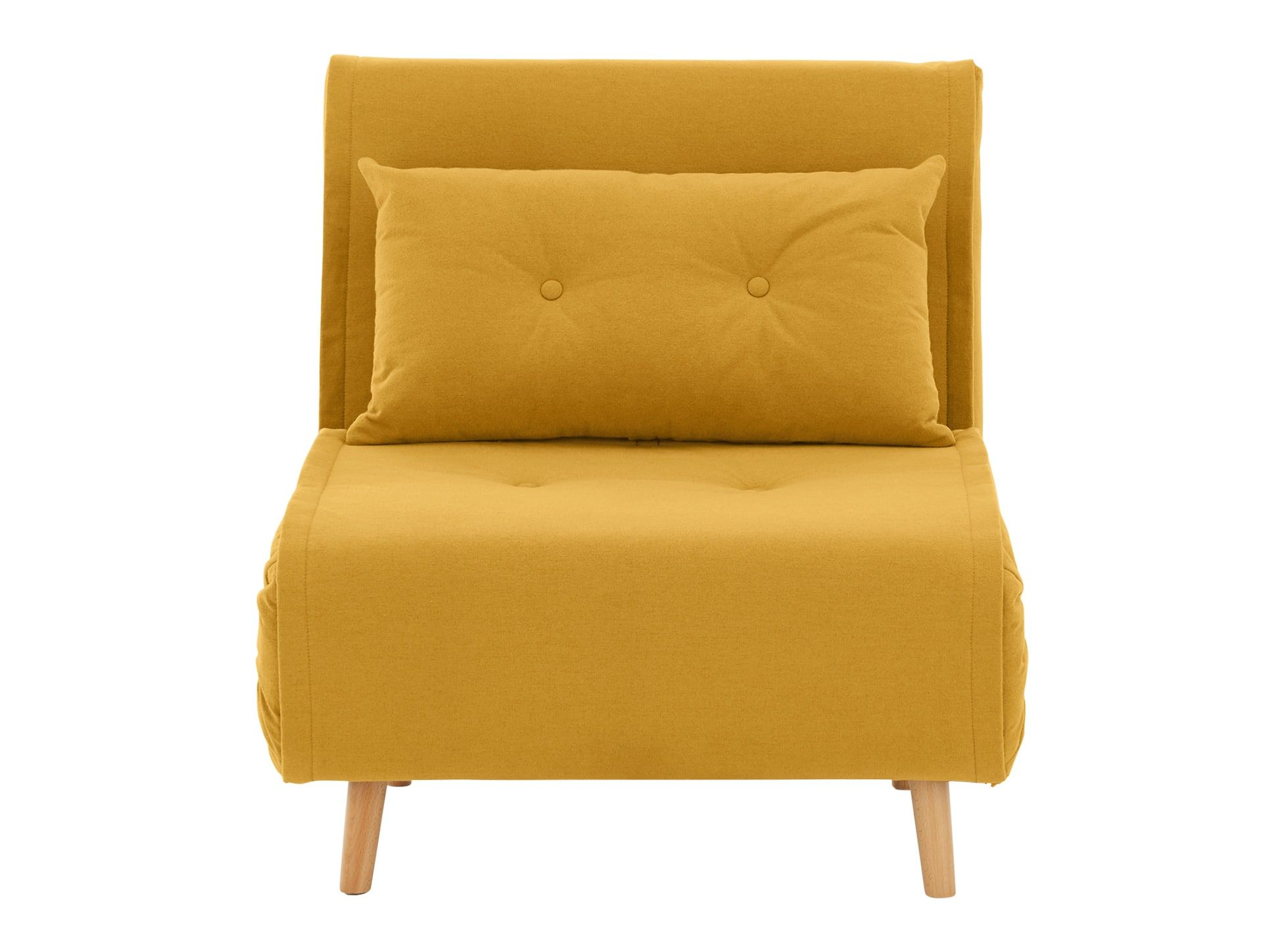 MADE butter yellow Sofa bed Sofa bed design, Single sofa