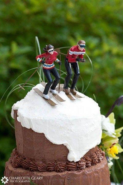 Ski Wedding Cake Ahaha Could Totally Be Me