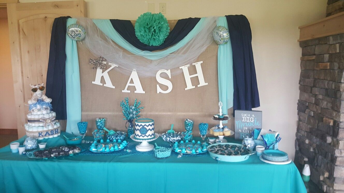 Backdrop Baby boy shower, Table decorations, Backdrops