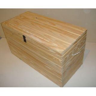 Baules de madera tapa recta o tapa bombe 1 mt de frente for Baul madera barato