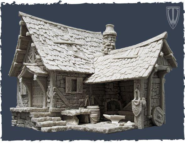 Afbeeldingsresultaat voor blacksmith miniature building