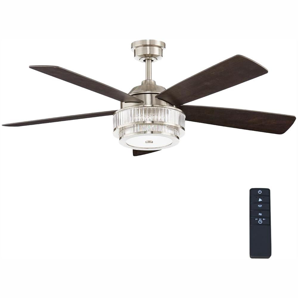 Home Decorators Collection Caldwell 52 In Led Brushed Nickel