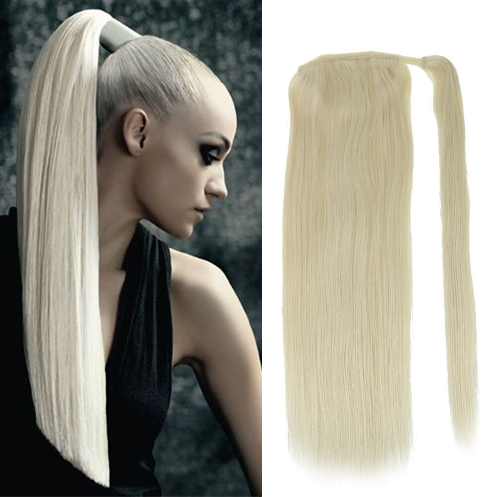 full shine 100g one piece pony tail hair extensions remy human hair