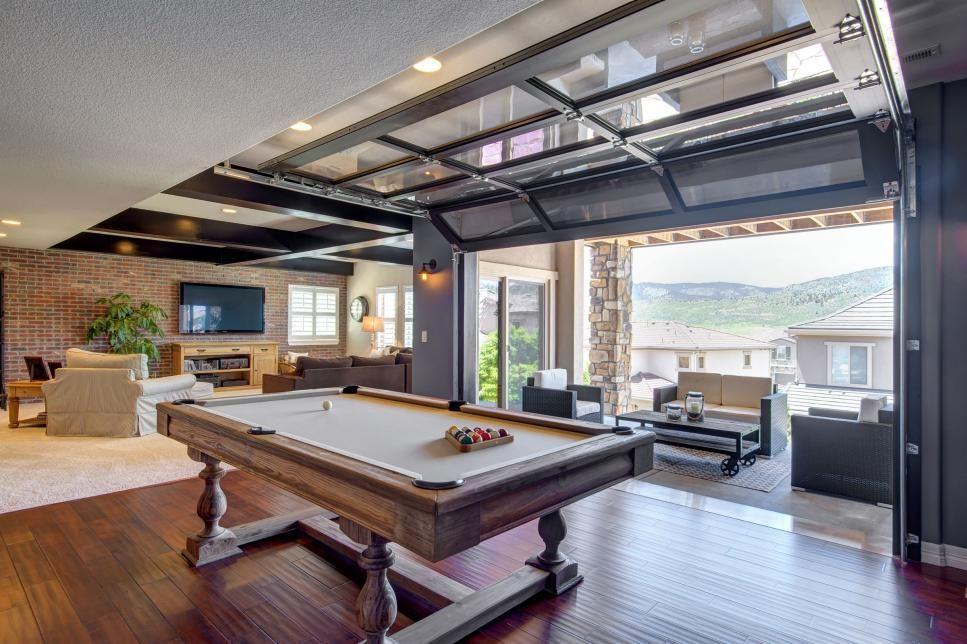 Best This Spacious Basement Renovation Features A Garage Door 400 x 300