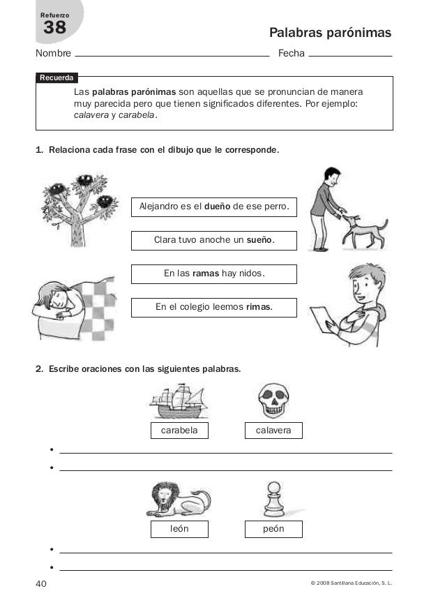 Lengua repaso y ampliación 3º primaria Santillana   SEGUNDO GRADO ...