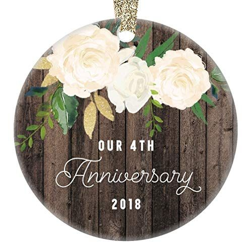 Our 4th Anniversary Ornament 2018, Fourth Year Married