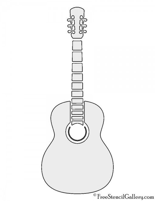 Musical Notes Stencils Printables Stencils Guitar