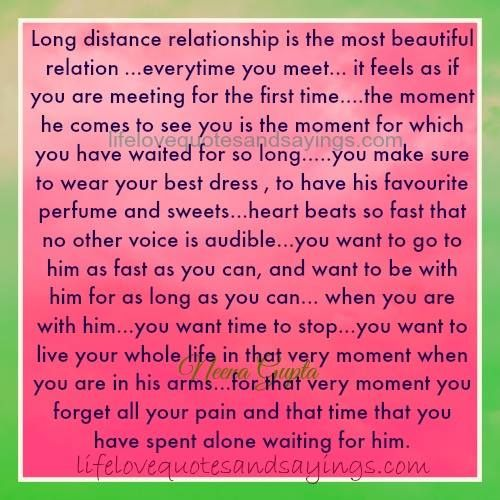 Encouraging Quotes For Long Distance Relationships: Long Distance Relationship Is The Most Beautiful Relation
