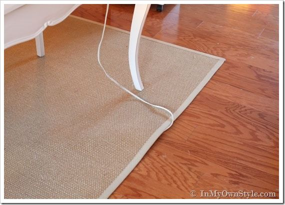 Running An Electric Cord Under A Rug Myownstyle Diane