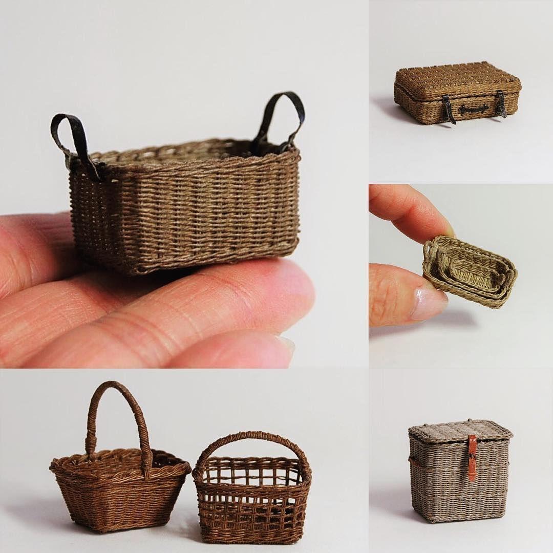 Miniature Dolls House Acessories 1//2 scale miniature size Basket of Apples