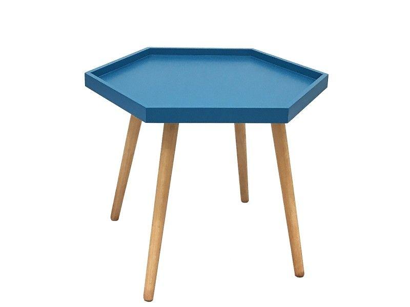 Table basse hexa bleu canard - Vente de Table basse - Conforama