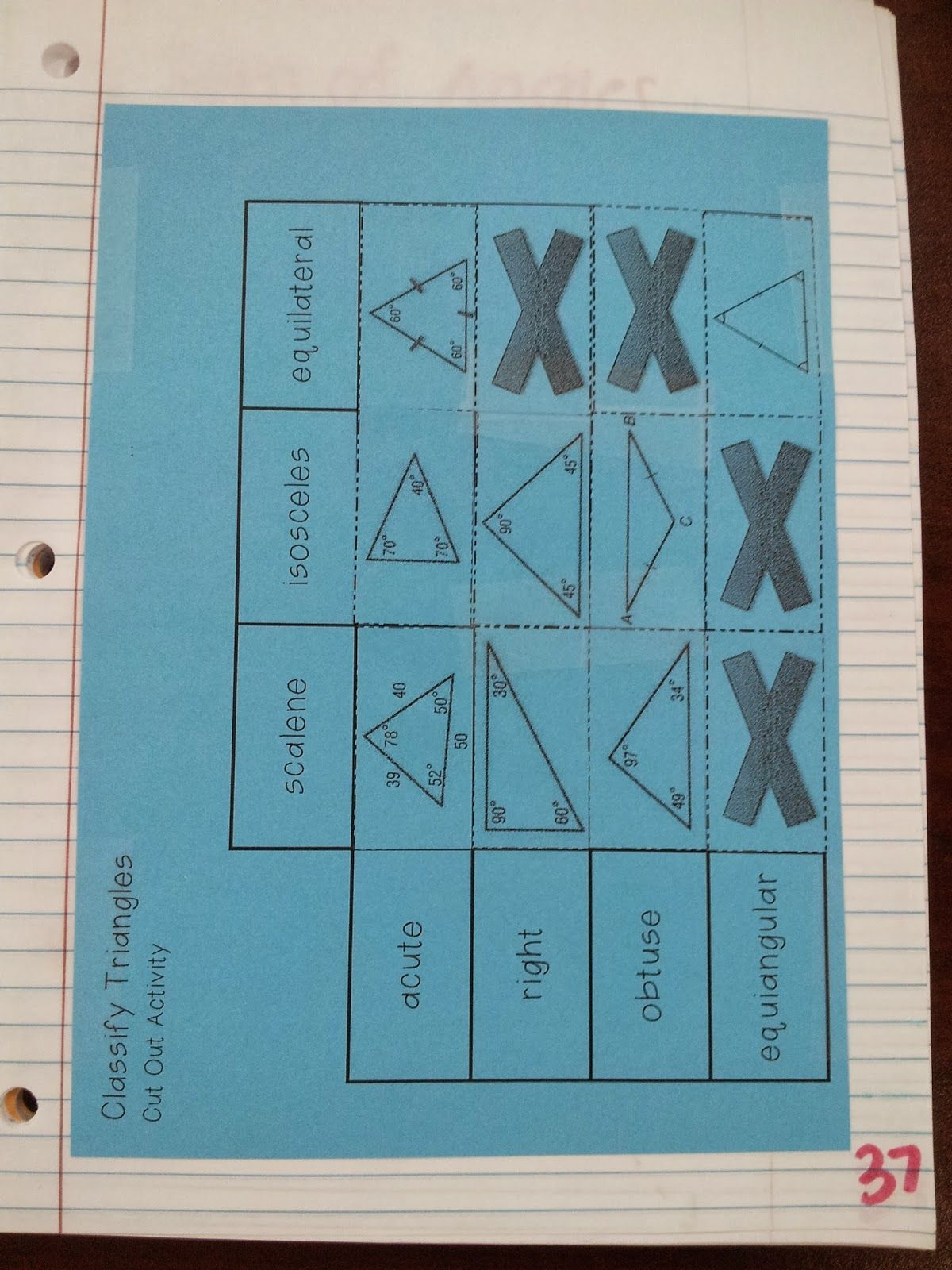 Math By Tori Classifying Triangles Vocab Foldable Amp Inb