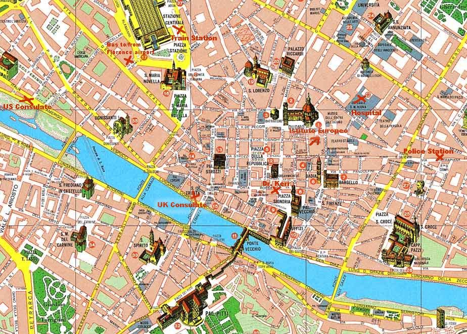 Map Florence I heart this city Pinterest Florence Renaissance