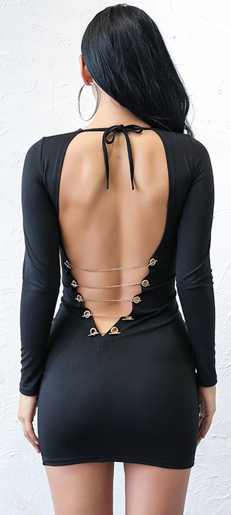 2d339fae7580 Hot Baddie Dresses Outfit Ideas for Women - Tight Lace Up Backless Corset Black  Dress for Going Out Night Party Bodycon - trajes de fiesta calientes ideas  ...