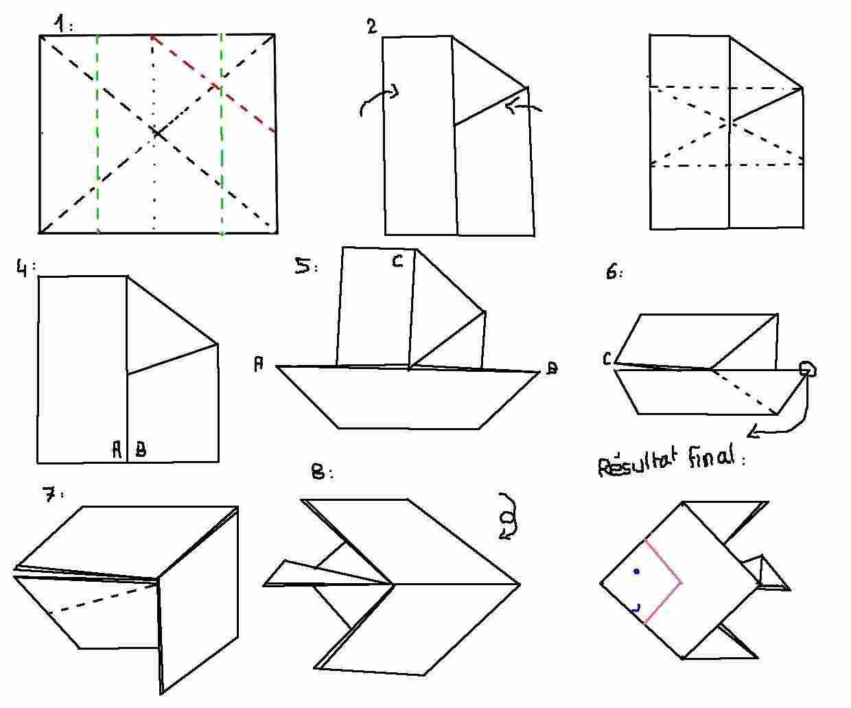 origami poisson origami poisson facile pirate pinterest origami poissons et bateaux. Black Bedroom Furniture Sets. Home Design Ideas