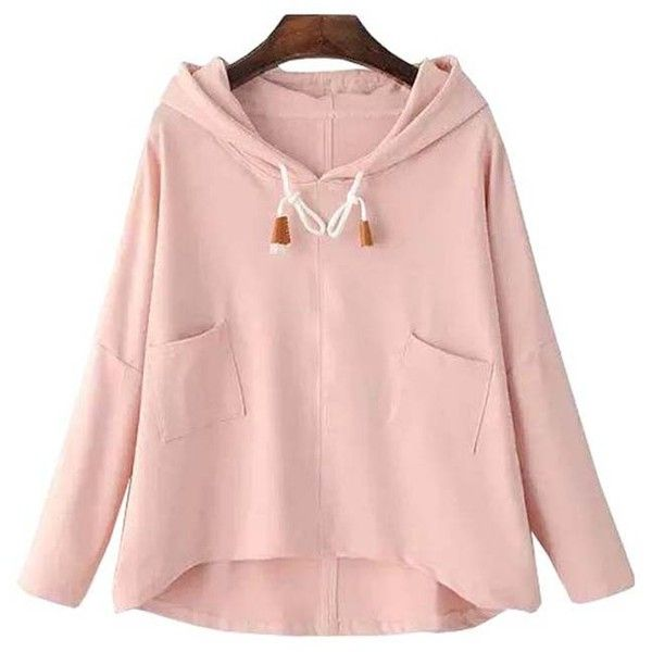 Chicnova Fashion Preppy Style Long Sleeve Hooded Sweatshirt (€18) ❤ liked on Polyvore featuring tops, hoodies, shirts, sweaters, shirt hoodie, hooded pullover, shirt hoodies, long sleeve shirts and long-sleeve shirt