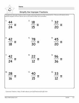 Printables Math Worksheets For 6 Graders grade math fraction worksheets scalien 6th scalien