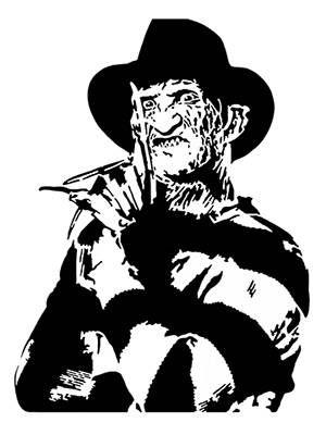 Freddy Krueger Scroll Saw Pattern 1 Instant Download Personagens