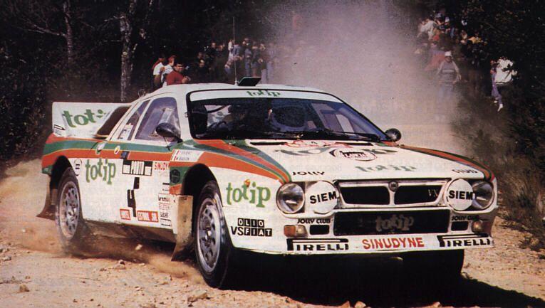 1985 Portuguese Rally Lancia Rally Miki Biasion Carros