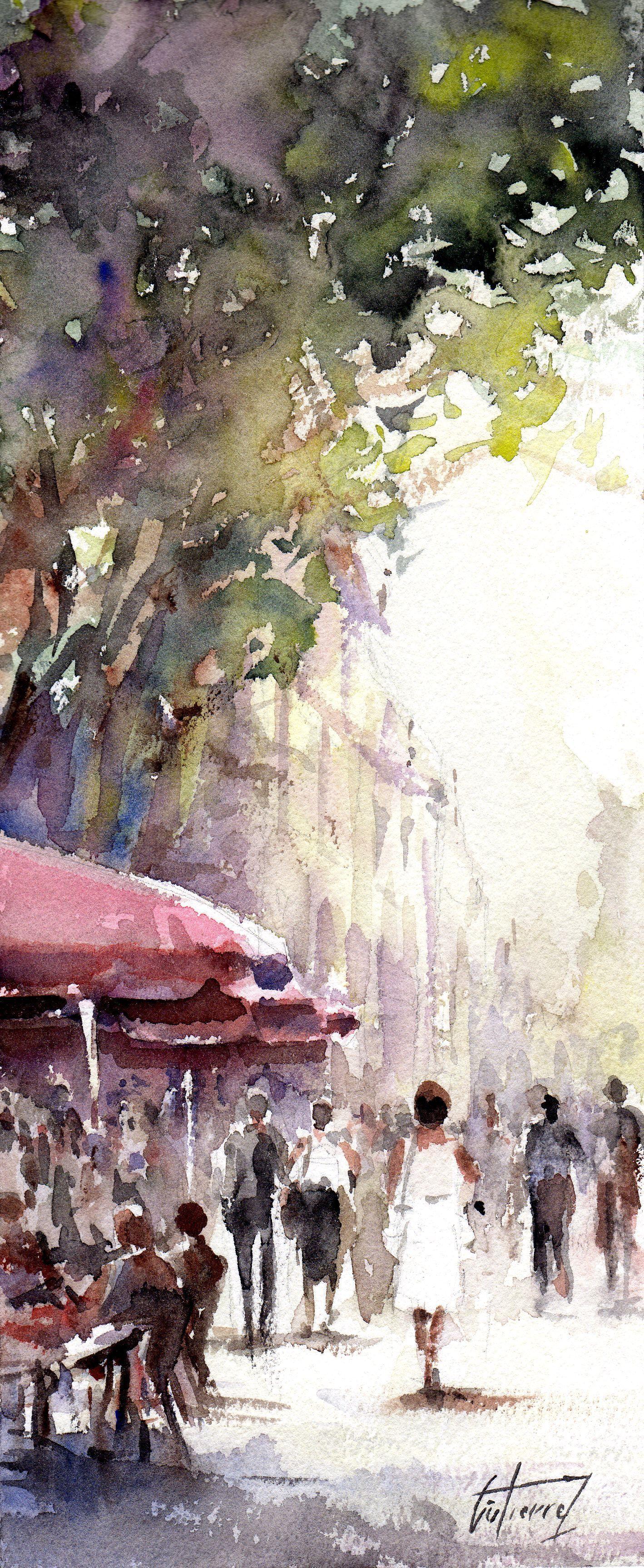 Rue D Aix En Provence Par Pierre Gutierrez Painting Subjects