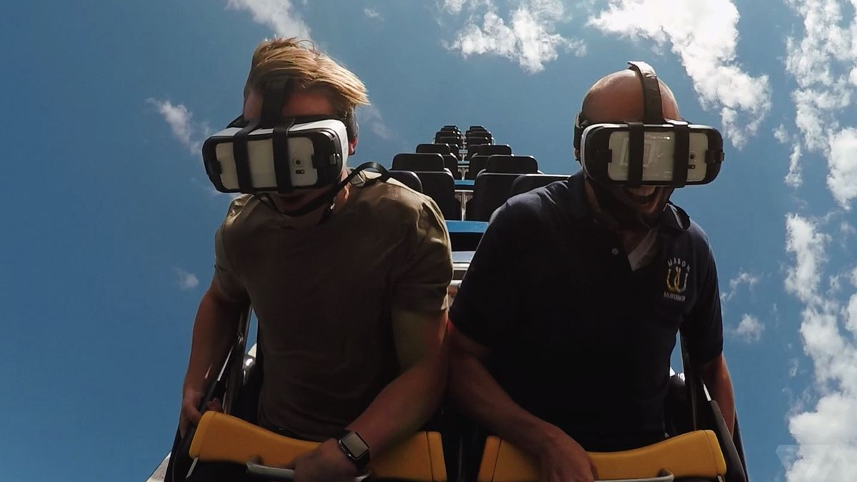Adding virtual reality to a roller coaster sounds dumb, but works amazingly well