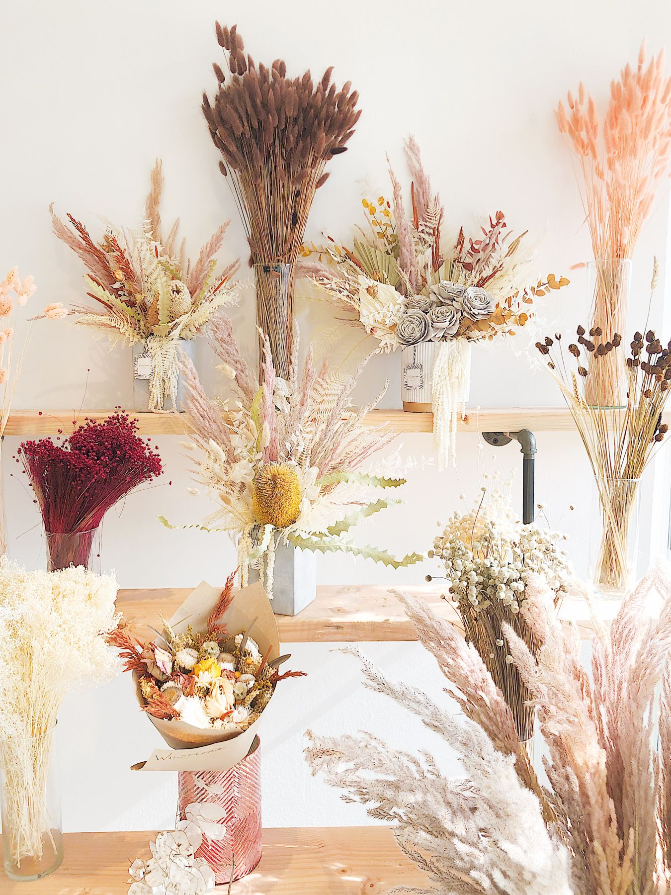 Pride For The Dried Flowers Dried Flowers Flower Bar Beige Color Scheme